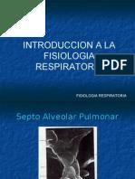 Introducción Fisiología Respiratoria