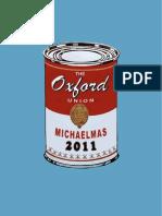 Oxford Union Term Card - Michaelmas 2011