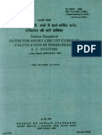 Is 13234-Short Circuit Current Calculation in Three Phase Ac Systems