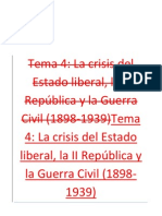 Crisis de la Restauracion, II República y Guerra Civil