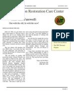 CRCC Newsletter August 2011