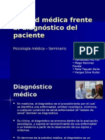 Actitud médica Frente Al Diagnóstico Del Paciente