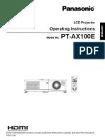 PanasonicPT-AX100E