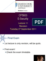 CP5603 Lecture 11 2011-09-27 Revision