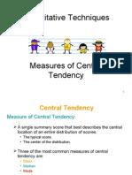 Central Tendency