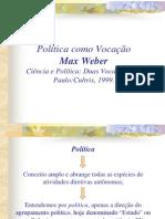 a política como vocação - Max Weber