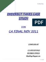 234797 41806 Case Study CA Final Indirect Taxes Nov 2011