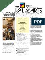 Festival of Arts Stevens Point call for Artists