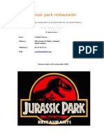 Business Plan Jurassic Park Restaurants
