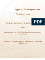 Applications of NMR Mud Logging Technology in China