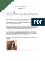Sotomayor se retracta y conmina a los auxiliares a presentar notas periodísticas