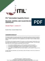 ITIL Intermediate Capability RCVSample1 SCENARIO BOOKLET v5.1[1]