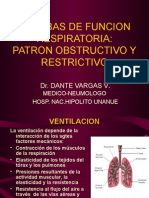 Pruebas de Funcion Respiratoria Patron Obstructivo y Restrictivo
