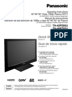 Panasonic TH-42PZ85U Manual