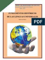 Fundamentos históricos de las lenguas universales. El caso del español y la trayectoria del inglés.