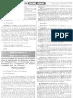 SPOT-TABLA DE REFERENCIAL D.S. Nº010-2006-MTC