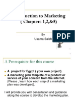 Chapters 1, 2 and 5 Introduction to Marketing