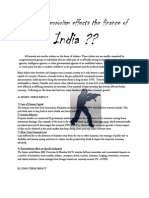 How Does Terrorism Effects the Finance of India