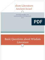 Session 1 Basic Questions About Wisdom Literature