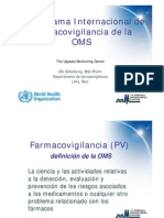 Programa de Farmacovigilancia OMS