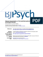 Clinical characteristics of first-admitted patients with ICD–10 Schizotypal