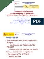 Requerimientos en la Industria farmaceutica