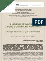 Circular I Congreso Argentino de Lengua y Cultura Luso Brasiles