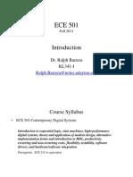ECE 501 F11 Session 1a Intro