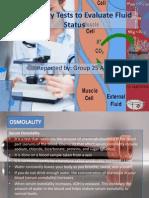 Laboratory Tests to Evaluate Fluid Status