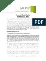 2011-9-22 Lederer PWM Market Update