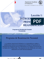 RCP neonatal Lesson 1Spanish April 2007