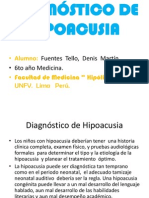 Diagnóstico de Hipoacusia