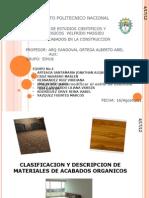 Clasificacion y Descripcion de Materiales de Acabados Organicos