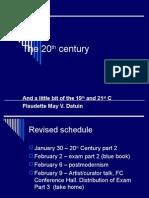 20th Century Part 1