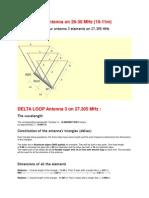DELTA LOOP 3el Antenna 27.305 Mhz