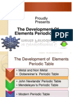 1. the Development of Periodic Table