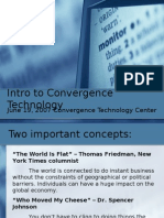 Intro to Convergence Technology