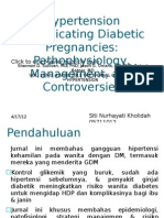Hypertension Complicating Diabetic Pregnancies