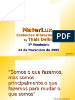 CD 1º Seminário MaterLux