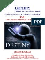 Brochure Destiny 4 Giorni