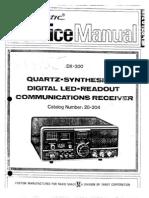 Radio Shack Realistic DX 300 Shortwave Radio Service Manual