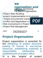 Project Organization & Implementation