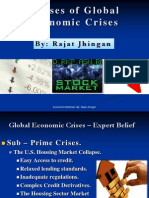 Causes of Global Economic Crisis by Rajat Jhingan