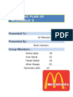 McDonalds (Marketing Plan)