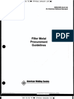 AWS A5.01 Filler Metal Procurement Guidelines