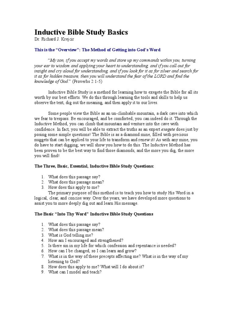 Inductive Bible Study Basics Repentance Bible Study Christian