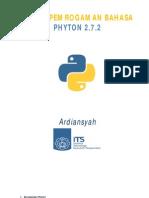 Dasar Pemrogaman Python 2.7.2