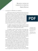 RECEPÇÃO E LEITURA NO HORIZONTE DA LITERATURA - Regina Zilberman