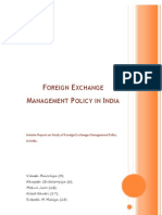 Foreign Exchange Management Policy in India