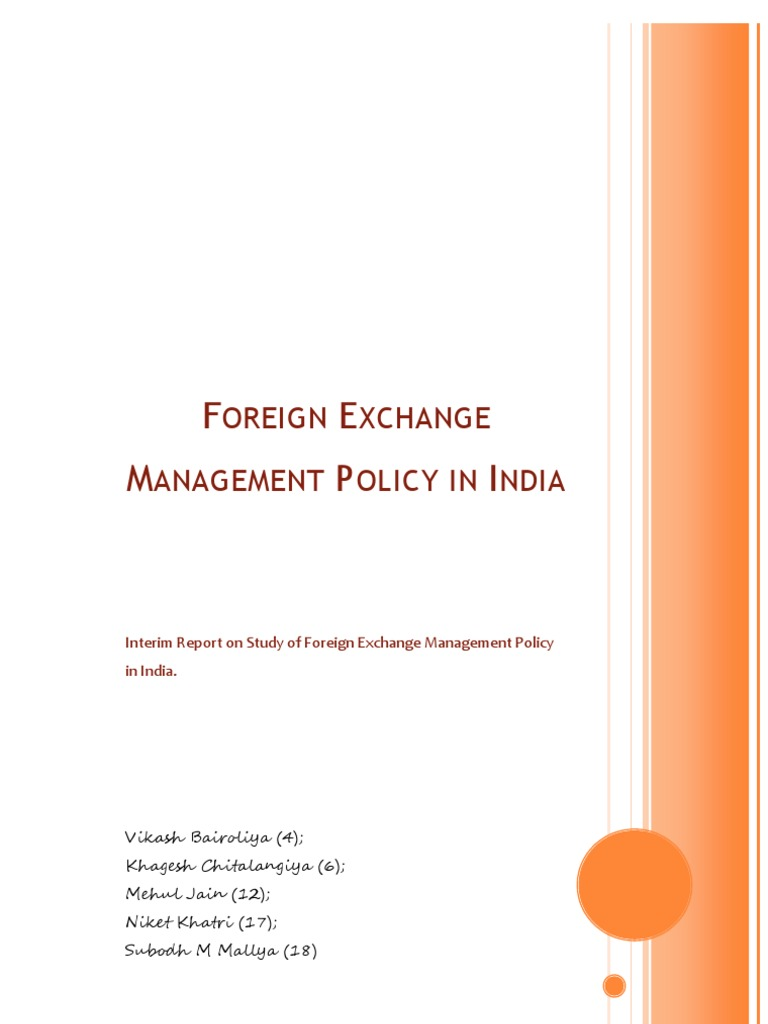 Indian forex policy